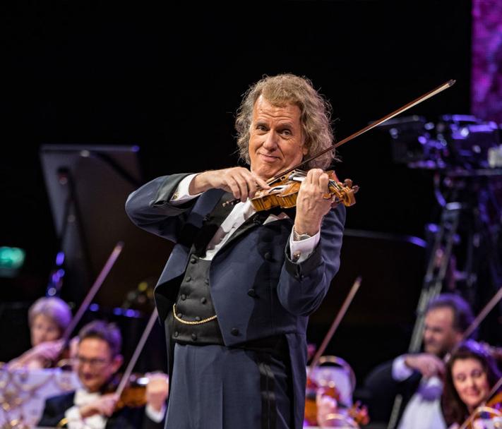 Andre Rieu tijdens een van zijn jaarlijkse concerten